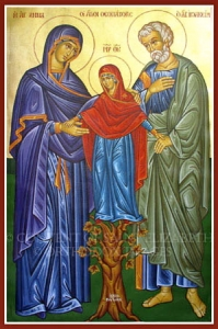 Sts. Joachim and Anna with the Theotokos